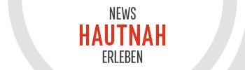 """Eine Werbeanzeige für den Nachrichtensuchdienst Infos Unter. Auf ihr ist der Text """"News hautnah erleben"""" zu lesen."""