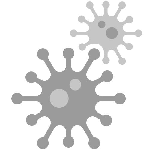 Vereinfacht dargestelltes Virus als Piktogramm
