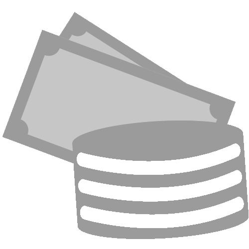 Vereinfacht dargestellte Münzen und Geldscheine als Piktogramm